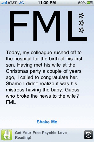 FML shake for iPhone